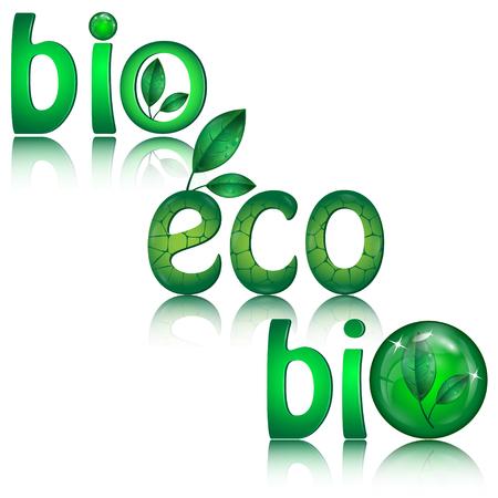 Set van groene eco pictogrammen op een witte achtergrond