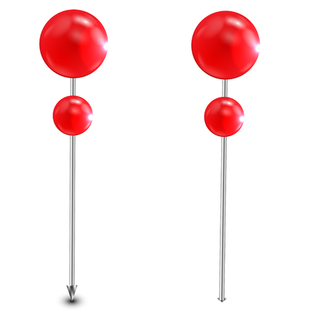 office needles are decorated by red balls