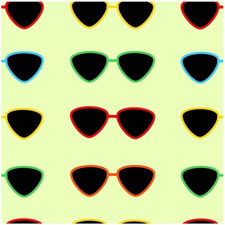 Seamless pattern of sunglasses.