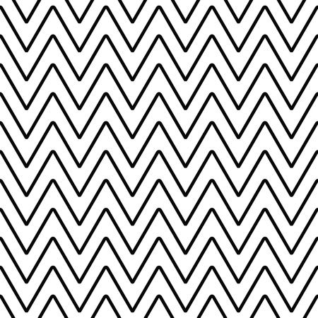 paperhanging: Geometric line monochrome abstract seamless pattern with zigzag. Wrapping paper. Scrapbook paper. Tiling. Vector illustration. Background. Graphic texture for design, wallpaper.
