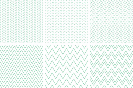 Set of geometric line abstract seamless herringbone and chevron pattern .Chevron.Wrapping paper. Illustration