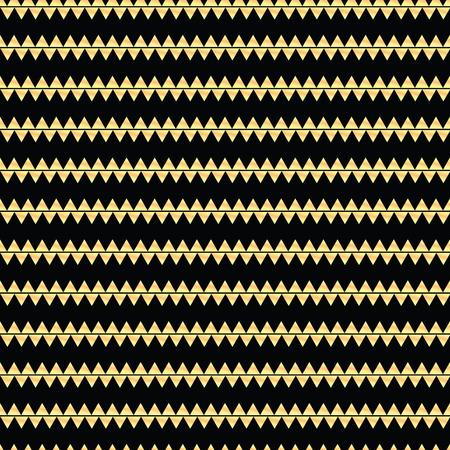 Geometrisches Linie Goldzusammenfassung nahtloses Muster mit Dreieck. Chevron. Geschenkpapier. Einklebebuchpapier. Fliesen. Vektor-Illustration. Hintergrund. Grafische Textur für Design, Tapete. Standard-Bild - 81229633
