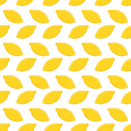 Lemon seamless pattern.Baby and kids style abstract geometric background.Colorful vector illustration. Hand drawn