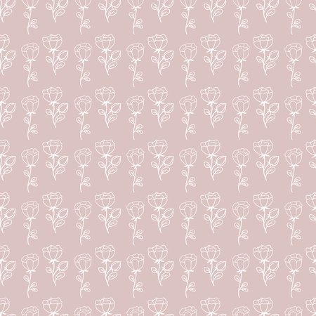 Hand drawn floral seamless pattern .Hand drawn decorative vectorseamless pattern with flower design. Cute flowers for your branding.  For  business cards, postcards, wedding invitations , wrapping paper 向量圖像