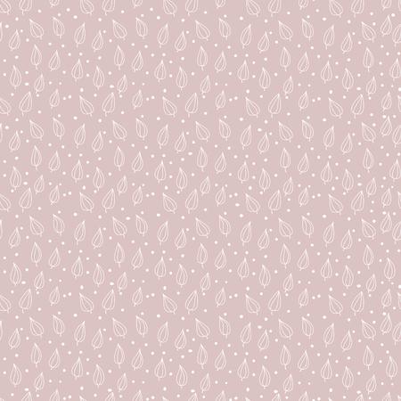 Hand gezeichnetes nahtloses mit Blumenmuster. Hand gezeichnetes dekoratives vektornahtloses Muster mit Blumendesign. Süße Blumen für Ihr Branding. Für Visitenkarten, Postkarten, Hochzeitseinladungen, Geschenkpapier Vektorgrafik