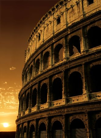 The Colosseum in Rome, Italy. photo