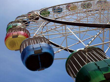 thrilling: A colourful ferris wheel in Australia.