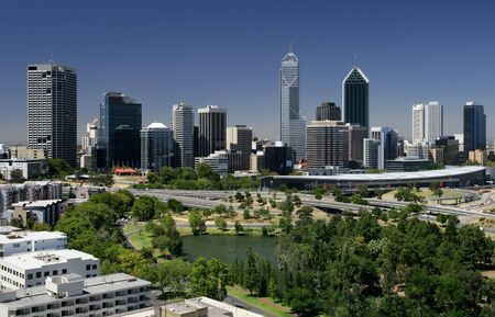 perth: A view of the city of Perth - Western Australia