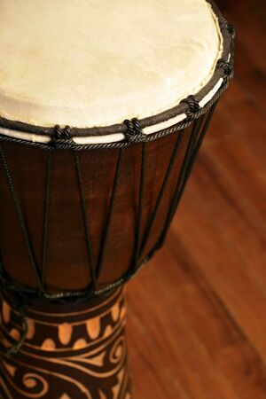 drumming: Selective focus image of a Djembe