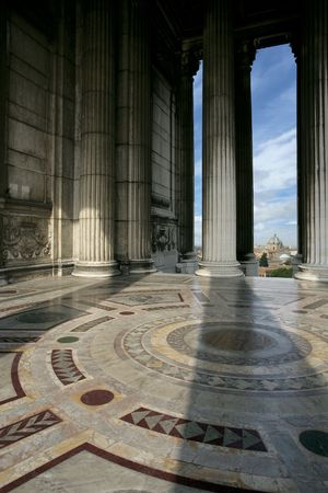 vittorio emanuele: A view from inside the Monument to Vittorio Emanuele ll.