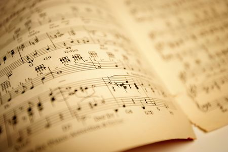 Old sheet music. Shallow depth-of-field. Stock Photo - 465406