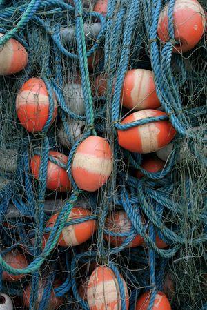 redes de pesca: Enredos de las redes de pesca.  Foto de archivo