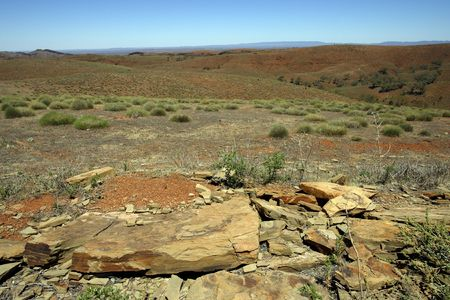 tucker: An image of the Australian Outback landscape.
