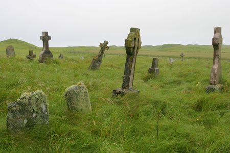 Old Scottish graveyard in South Uist, off the west coast of Scotland.