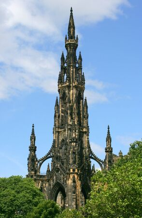 An image of the Scott Monument in the beautiful city of Edinburgh, Scotland. photo