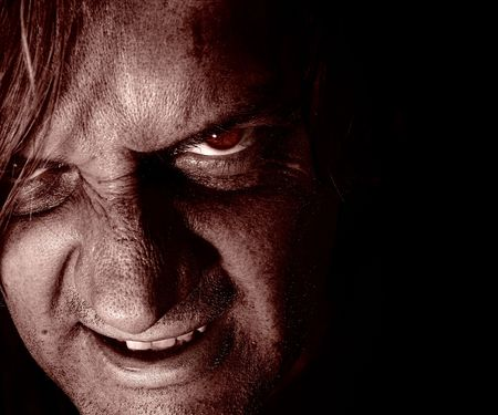 vile: Psycho lurking in the dark Stock Photo