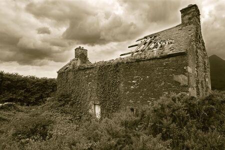 A derelict house somewhere in Ireland. photo