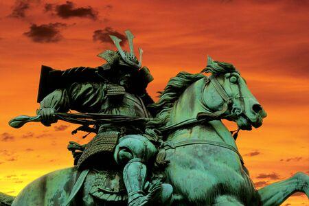 samurai warrior: Kusunoki Masashige statue in Tokyo, Japan.
