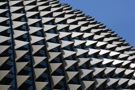 resemble: The roof of the Esplanade theatre in Singapore. Designed to resemble the durian fruit. Editorial