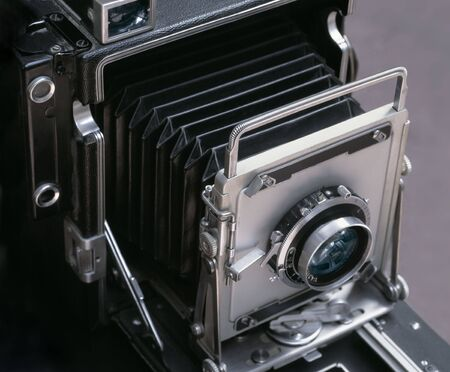 viewfinder vintage: Image of an antique 4x6 camera. Stock Photo