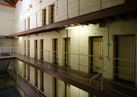 View of prison cell blocks. Stock Photo - 900715