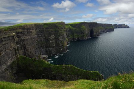 republic of ireland: The Cliffs of Moher in the republic of Ireland. Stock Photo