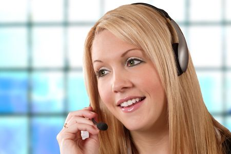 category: One more beautiful call centre  help-desk  hotline girl for the already overabundant category.