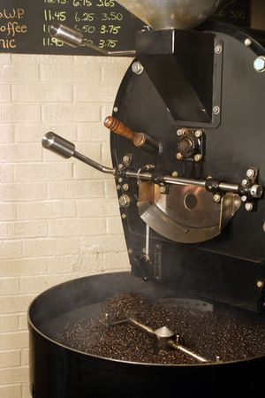 roaster: The freshly roasted beans from a large coffee roaster