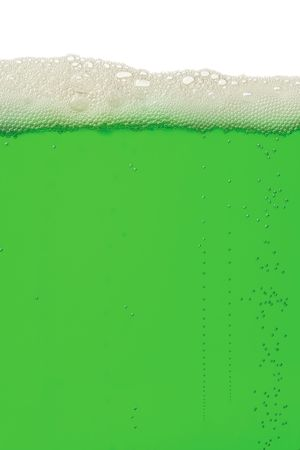 A macro background image of green beer for St. Patrick's Day. Stock Photo - 2651782