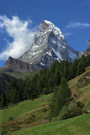 matterhorn: The Matterhorn in Zermatt, Switzerland.