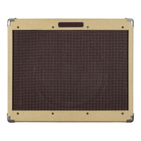 Photograph of the front of an old guitar amplifier. Stock Photo - 6573536