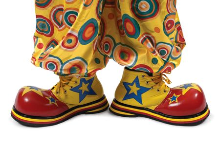 clowns: A huge pair of clown shoes.