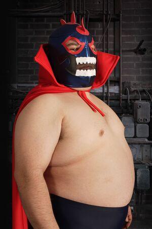 traje mexicano: Fotografía de un luchador mexicano o un Luchador.