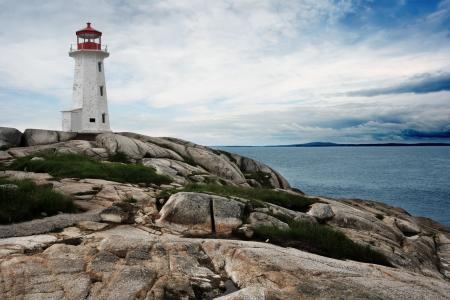 scotia: The lighthouse at Peggys Cove in Nova Scotia Canada.