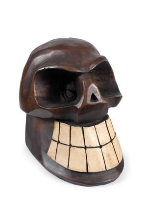 Day of the Dead wooden skull. Stock Photo - 8913060