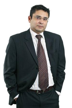indian male: Photo of a confident Indian businessman. Stock Photo