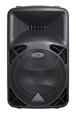 loudspeaker: Photograph of the front of a concert loudspeaker.  Background image for music-related subjects. Clipping path included. Stock Photo