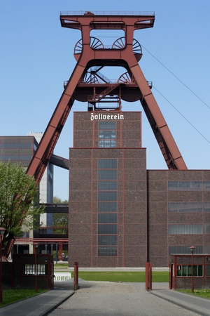 Die Zollverein in Essen einmal Europas größte Zollverein, geschlossen im Jahr 1986.