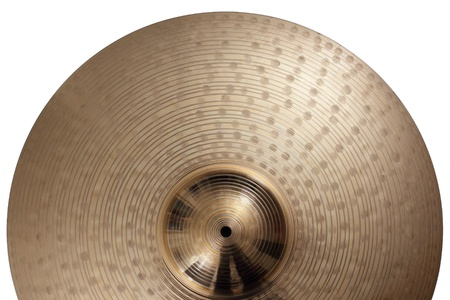 brass instrument: Photo of a ride cymbal as a background. Stock Photo