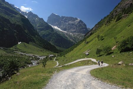 european alps: Swiss Alps, hiking near Engelberg in the canton of Obwalden.