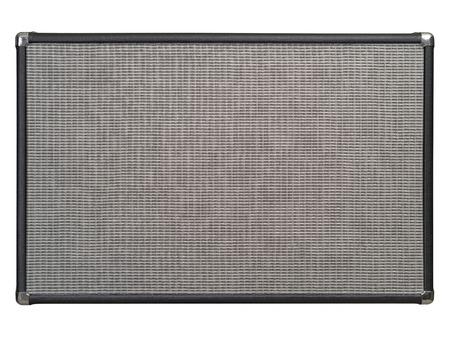 Photo of the front of a guitar amplifier as a background. Clipping path included.