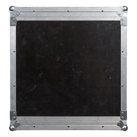 moving crate: Photo of a isolated road case or flight case with reinforced metal corners.  Background image for music-related shipping and touring. Clipping path included.