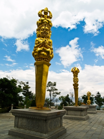 Gold statue in Dali Yunnan province, China