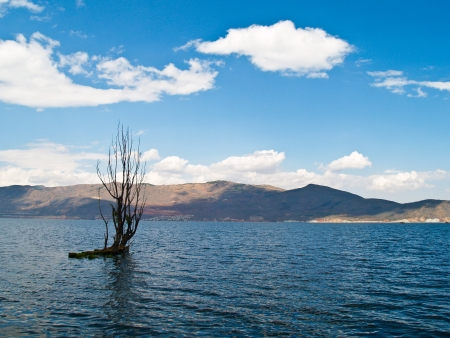 The Erhai lake old in Dali Yunnan province, China  Stock Photo