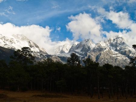 Jade Dragon Snow Mountain in LiJiang, Yunnan Province, China Stock Photo