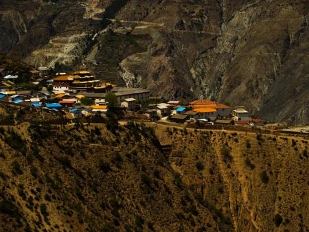 Shangrila village at Deqing, Yunnan province, China