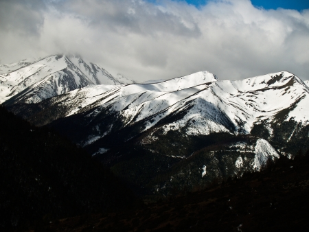 Snow mountain at Deqing, Yunnan province, China