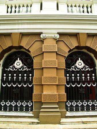 Classic door at grand palace in bangkok Thailand Editorial