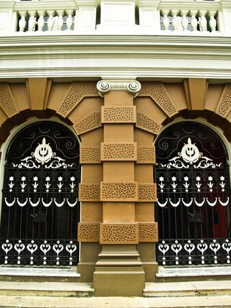Classic door at grand palace in bangkok Thailand Editorial