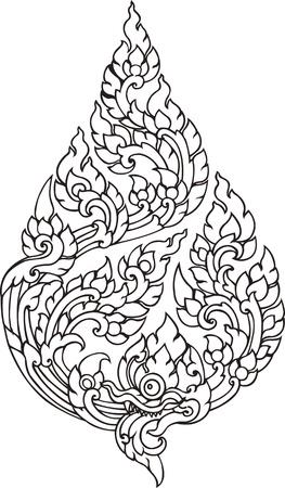 Leaf Pattern artistic of Thai Editorial
